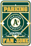 MLB Oakland Athletics Plastic Parking Sign Wall Sign
