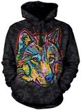 Hoodie: Happy Wolf Pullover Hoodie