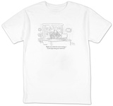 """Right now I think the wisest strategy is to diversify among your mattress"" - New Yorker T-Shirt T-shirts by Robert Mankoff"
