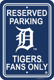 MLB Detroit Tigers Plastic Parking Sign Wall Sign