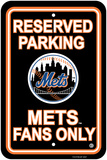 MLB New York Mets Plastic Parking Sign Wall Sign