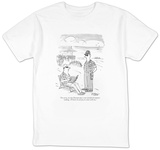 """I'm sorry, sir, but Dostoyevsky is not considered summer reading.  I'll h"" - New Yorker T-Shirt T-Shirt by Peter Steiner"