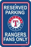 MLB Texas Rangers Plastic Parking Sign Wall Sign