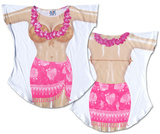Hot Pink Sarong Cover-Up T-shirts