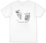 """He's sorry, Your Honor, and he's decided to devote himself to making a di"" - New Yorker T-Shirt T-shirts by Mike Twohy"