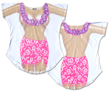 Topless Hibiscus Cover-Up Remera