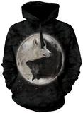 Hoodie: Yin Yang Wolves Hettegenser