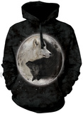 Hoodie: Yin Yang Wolves Pullover con cappuccio