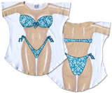 Teal Flowers Bikini Cover-Up T-shirts