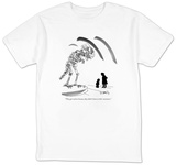 """They got extinct because they didn't listen to their mommies."" - New Yorker T-Shirt T-shirts by Donald Reilly"