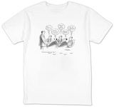 """All those in favor say 'Aye.' "" --""Aye.""   ""Aye.""   ""Aye.""   ""Aye."" ""Aye."" - New Yorker T-Shirt T-shirts by Henry Martin"