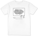 """It's plotted out.  I just have to write it."" - New Yorker T-Shirt T-shirts by Charles Barsotti"