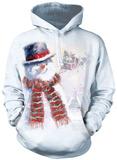 Hoodie: Happy Snowman Pullover Hoodie