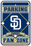 MLB San Diego Padres Plastic Parking Sign Wall Sign
