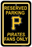 MLB Pittsburgh Pirates Plastic Parking Sign Wall Sign