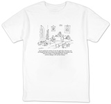"""Let me refresh your memory.  It was the night before Christmas and all th?"" - New Yorker T-Shirt T-shirts by Michael Maslin"
