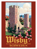 Wisby, Schweden (Visbey, Sweden) - The City of Ruins and the Roses Prints by Ivar Gull