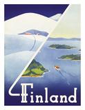 Finland - Summer and Winter in Finland Giclee Print by Erkki Hölttä