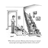 """What did we promise Mommy about leaving our rejected manuscripts and empt..."" - New Yorker Cartoon Premium Giclee Print by Tom Cheney"