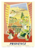 Provence, France - National Society of French Railways Prints by  Tal