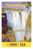 Victoria Falls, Zimbabwe - Fly BOAC (British Overseas Airways Corporation) Giclée-tryk af Frank Wootton