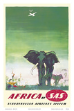Africa - Elephants - by SAS Scandinavian Airlines System Posters af Otto Nielsen