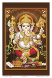 Lord Ganesha - Hindu Elephant Headed Deity - God of Wisdom, Knowledge and New Beginnings Láminas