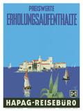 Mediterranean Cruises - Hamburg-Amerika Linie (Hamburg-American Line) HAPAG Posters by Albert Fuss