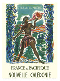 France du Pacifique (France in the Pacific) - New Caledonia -The Island of Light Poster by Monique Cras