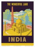 India - The Wonderful Land - Taj Mahal Art
