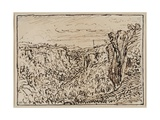 Hilly Landscape (The Lizon River Gorge), c. 1861–63 Giclee Print by Theodore Roussel