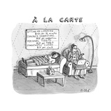 A La Carte -- Therapy where a placard lists a menu of options, e.g. Sittin... - New Yorker Cartoon Premium Giclee Print by Roz Chast
