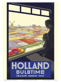 Holland - Bulb Time - Tulip Season March-May Prints by E. G.