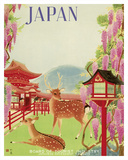 Japan - Todaiji Great Eastern Temple - Nara Temple Deer Giclee Print