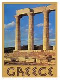 Greece - Temple of Poseidon at Cape Sounion Print