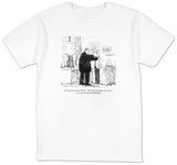 """It's up to you now, Miller. The only thing that can save us is an account"" - New Yorker T-Shirt T-Shirt by Robert Weber"