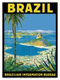 Brazil - Rio de Janeiro - Brazilian Information Bureau Posters by Waldomiro Gonçalves Christino