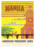 Manila, Philippines - American President Lines Posters