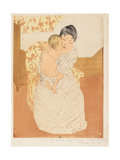 Maternal Caress, 1890-1 Giclee Print by Mary Cassatt