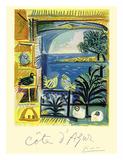 Cote d'Azur - Picasso's Studio Pigeons Velazquez Giclee Print by Pablo Picasso