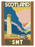 Scotland by S.M.T (Scottish Motor Traction) - Glenfinnan Tower - Loch Shiel Posters by Jack Peacock