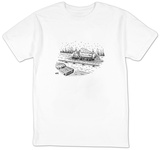 Plow truck salts highway from giant salt shaker on back of truck. - New Yorker T-Shirt T-Shirt by Christopher Weyant