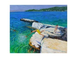 The Diver, Plates Rock, Skiathos, Greece, 2015 Giclee Print by Andrew Macara
