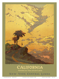 California - America's Vacation Land - New York Central Lines Poster by Jon O. Brubaker