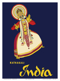 India - Kathakali Indian Dancer Posters