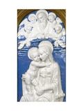 Madonna and Child with God the Father and Cherubim, 1480-90 Giclee Print by Andrea Della Robbia