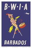 Barbados - Caribbean Islands - Moko Jumbie Stilts Dancer - British West Indies Airways BWIA Posters