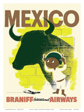 Mexico - Bull and Boy Matador - Braniff International Airways Prints
