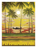 Hawaii - Fly Hawaiian Air - Hawaiian Airlines Giclée-tryk
