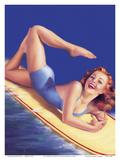 An American Beauty - Surfer Girl Poster by Billy Devorss